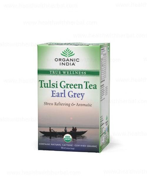 buy Organic India Tulsi Green Earl Grey in UK & USA