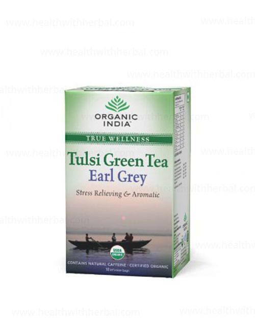 buy Organic India Tulsi Green Earl Grey in UK & USA
