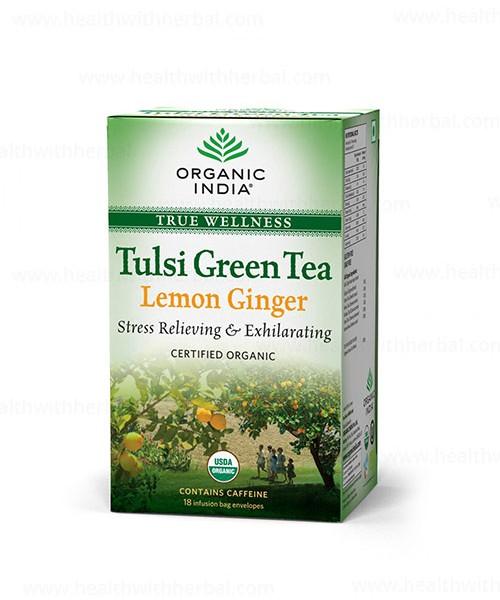 buy Organic india Tulsi Green Tea Lemon Ginger in UK & USA