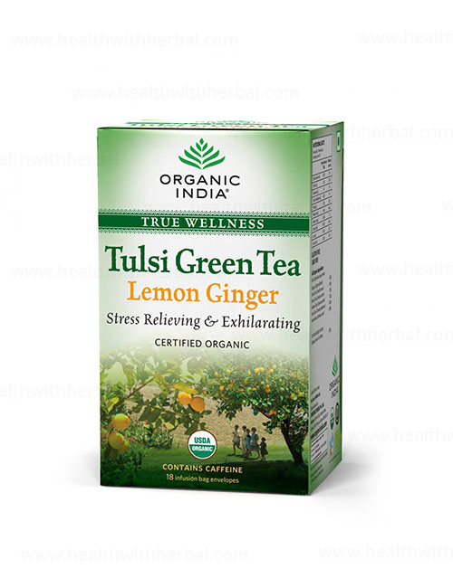 buy Organic india Tulsi Green Tea Lemon Ginger in UK & USA