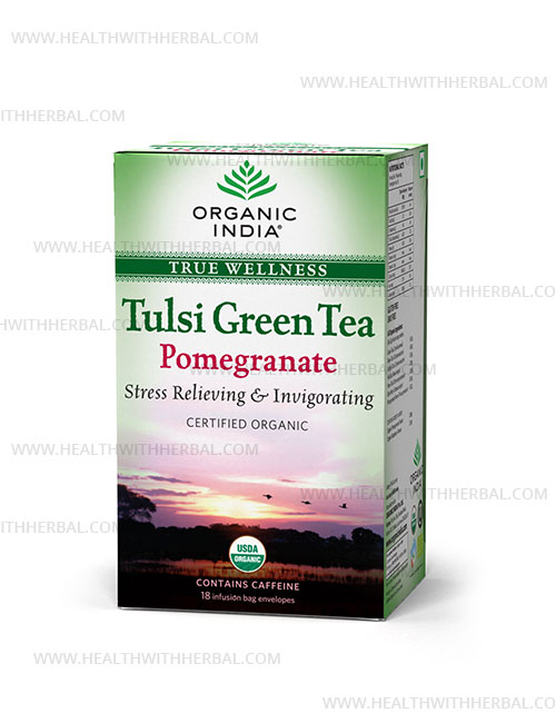 buy Organic India Tulsi Green Tea Pomegranate in UK & USA