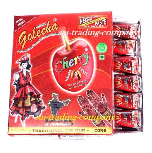 buy Golecha Cherry Henna Cone in UK & USA