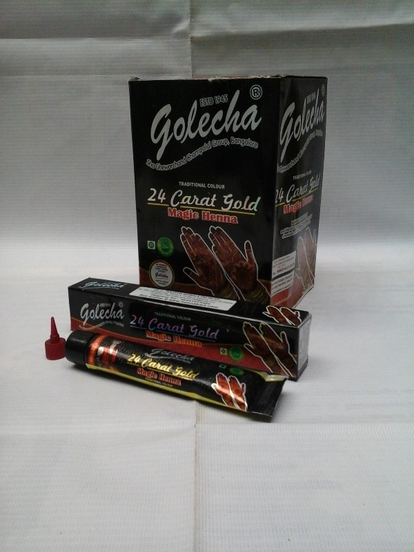 buy Golecha 24 Carat Gold Magic Henna Black Tubes (Pack of 12) in UK & USA