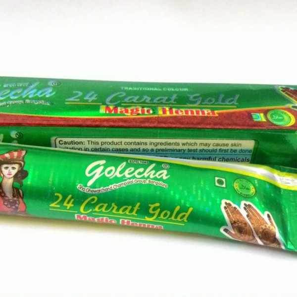 buy Golecha 24 Carat Gold Magic Henna Green Tubes (Pack of 12) in UK & USA