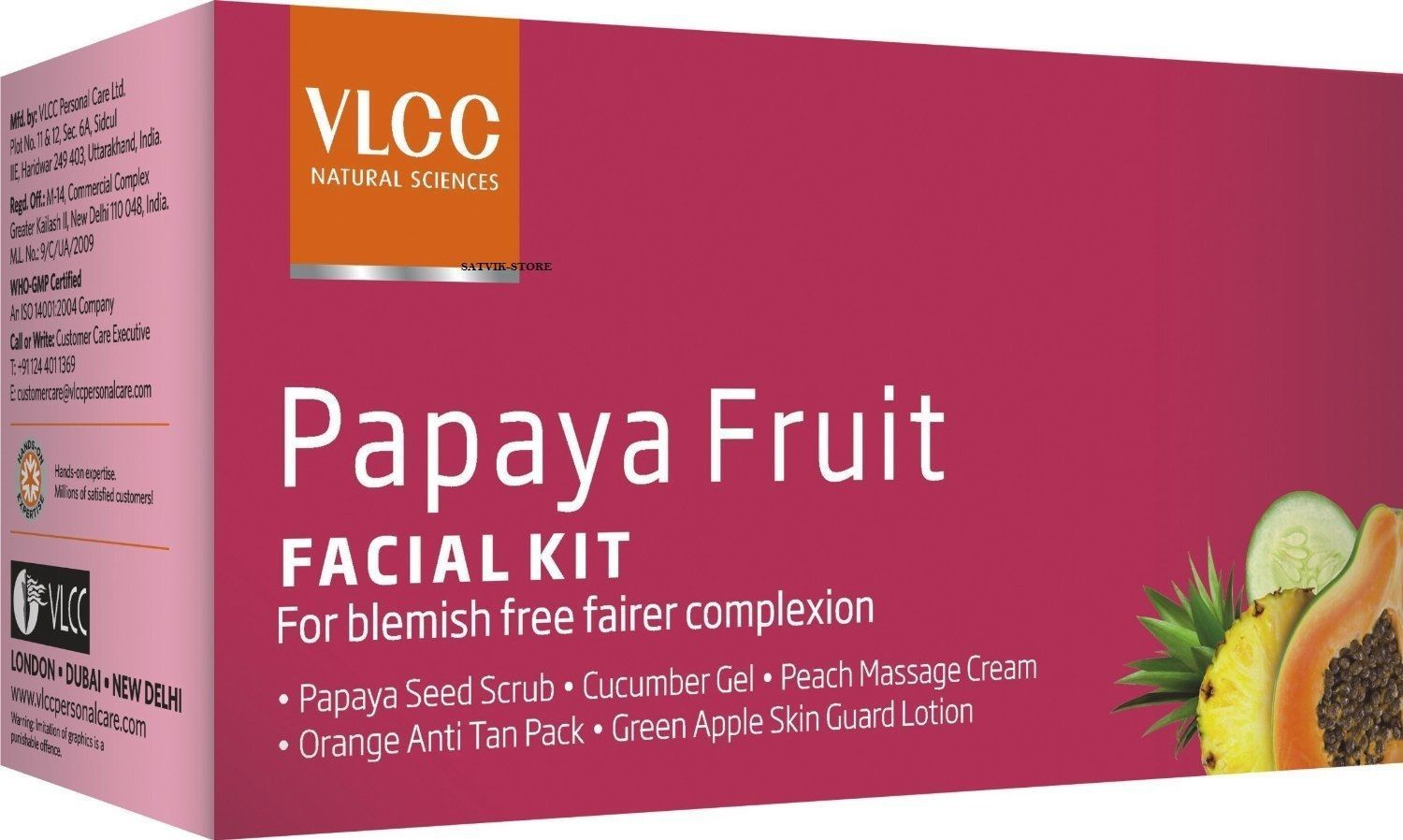 buy VLCC Payaya Fruit Facial Kit in UK & USA