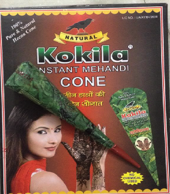 buy Kokila Natural Henna Cones (Pack of 12) in UK & USA