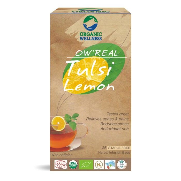 buy Organic Wellness Tulsi Lemon Green Tea Bags in UK & USA