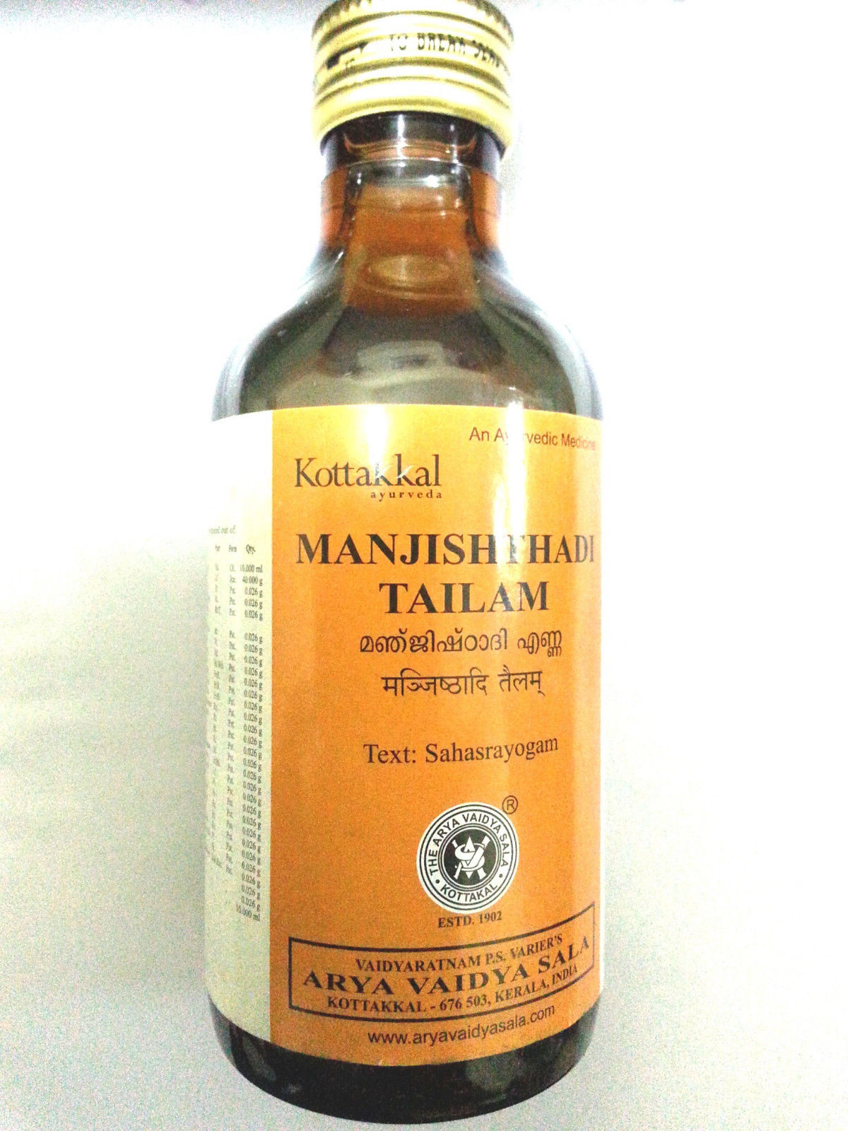 buy Ayurvedic Manjishthadi Tailam in UK & USA