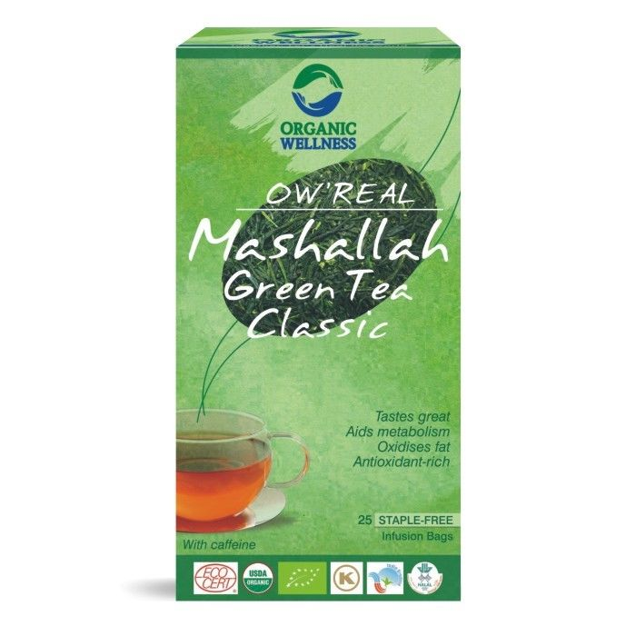 buy Organic Wellness Tulsi Mashallah Classic Green Tea Bags in UK & USA