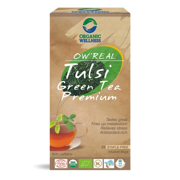 buy Organic Wellness Tulsi Premiun Green Tea Bags in UK & USA