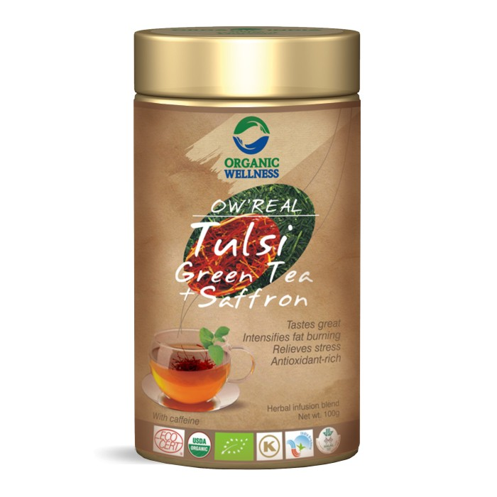 buy Organic Wellness Tulsi Saffron Green Tea in UK & USA