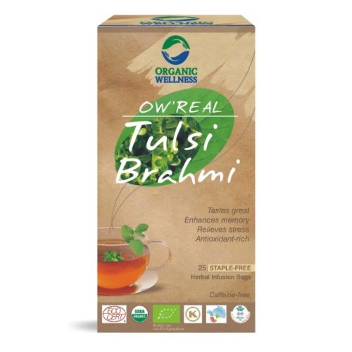 buy Organic Wellness Tulsi Brahmi Green Tea Bags in UK & USA