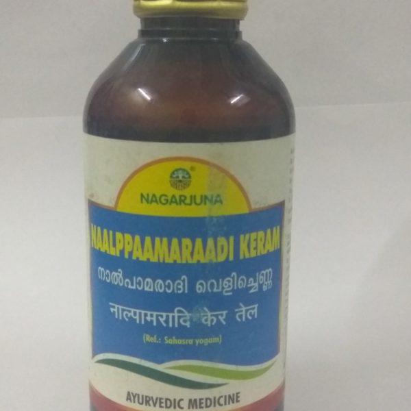 buy Nagarjuna Herbal Naalppaamaraadi Keram Tailam in UK & USA